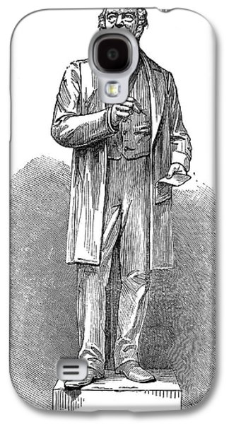 Statue Portrait Galaxy S4 Cases - Sir Rowland Hill (1795-1879) Galaxy S4 Case by Granger