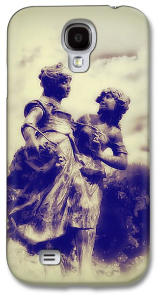 Highlands Digital Art Galaxy S4 Cases - Sisters - Ink  Galaxy S4 Case by Bill Cannon