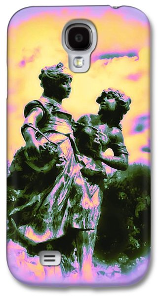 Highlands Digital Art Galaxy S4 Cases - Sisters - Pastel Colors Galaxy S4 Case by Bill Cannon