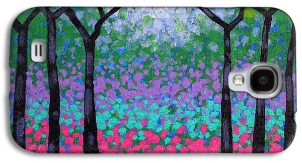 Landscape Acrylic Prints Galaxy S4 Cases - Six Trees Galaxy S4 Case by John  Nolan