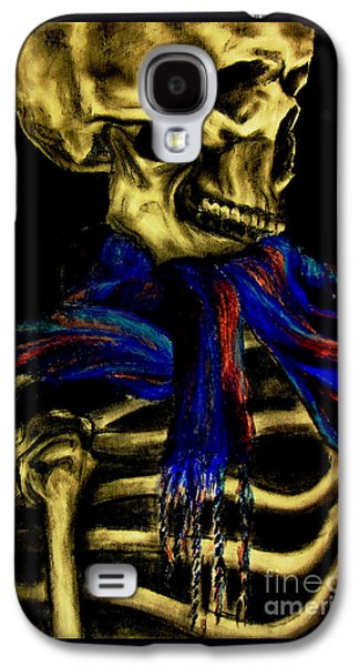 Creepy Pastels Galaxy S4 Cases - Skeleton Fashion Victim Galaxy S4 Case by Tylir Wisdom
