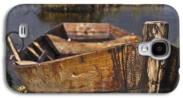 Fens Galaxy S4 Cases - Skiff in swedish swamp Galaxy S4 Case by Heiko Koehrer-Wagner