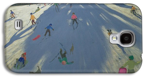 Skiing Galaxy S4 Case by Andrew Macara