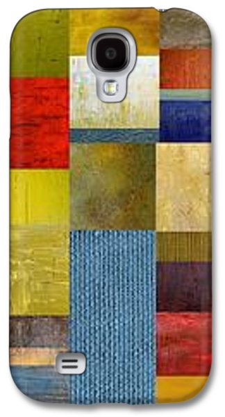 Geometric Design Galaxy S4 Cases - Skinny Color Study ll Galaxy S4 Case by Michelle Calkins