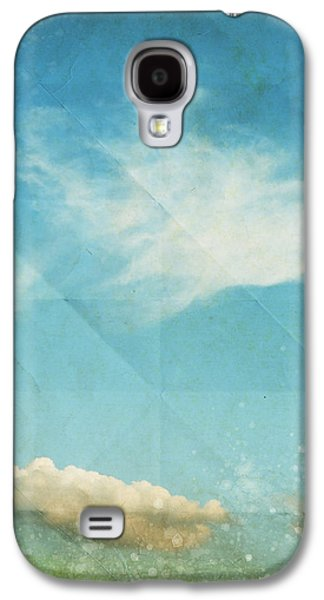 Torn Mixed Media Galaxy S4 Cases - Sky And Cloud On Old Grunge Paper Galaxy S4 Case by Setsiri Silapasuwanchai