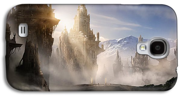 Concept Art Galaxy S4 Cases - Skyrim Fantasy Ruins Galaxy S4 Case by Alex Ruiz