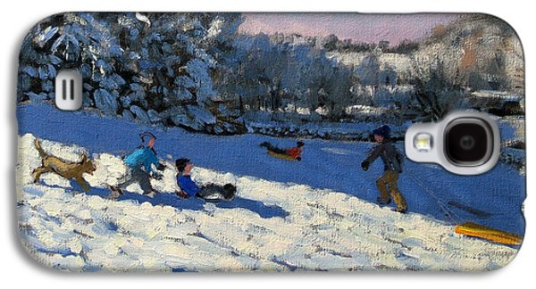 Sledging Near Youlgreave Galaxy S4 Case by Andrew Macara