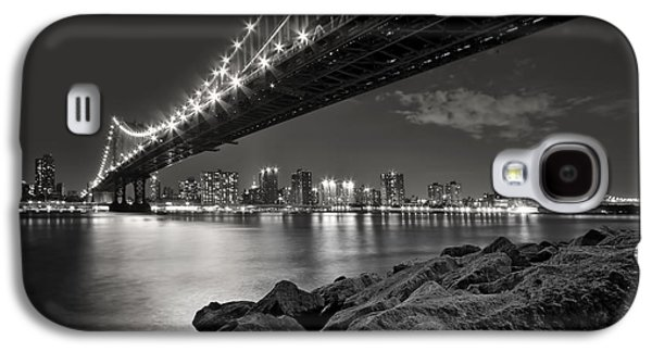 Bridge Galaxy S4 Cases - Sleepless Nights And City Lights Galaxy S4 Case by Evelina Kremsdorf