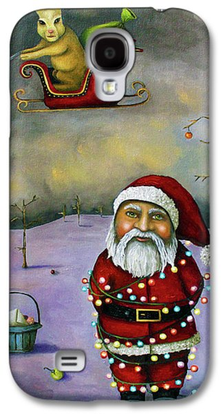 Snow Paintings Galaxy S4 Cases - Sleigh Jacker Galaxy S4 Case by Leah Saulnier The Painting Maniac