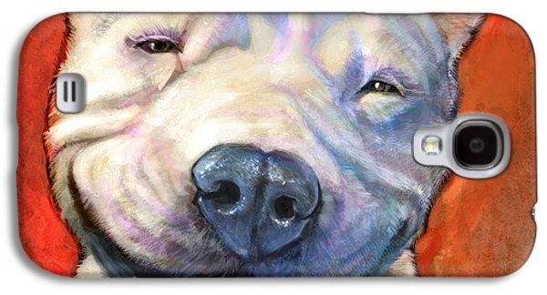 Best Sellers -  - Dogs Digital Art Galaxy S4 Cases - Smile Galaxy S4 Case by Sean ODaniels