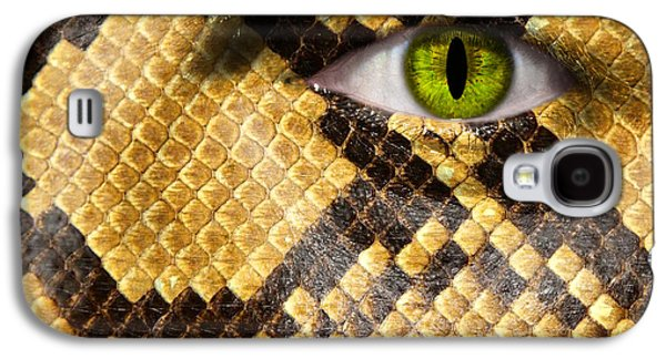Cocoon Galaxy S4 Cases - Snake Eye Galaxy S4 Case by Semmick Photo
