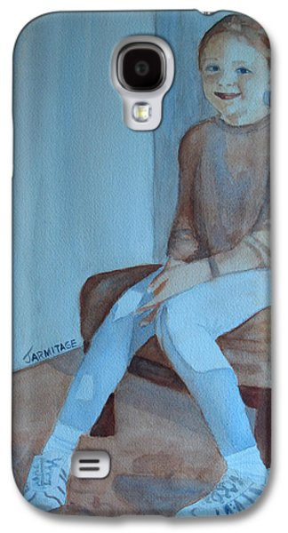 Girl Galaxy S4 Cases - Sneakers II Galaxy S4 Case by Jenny Armitage