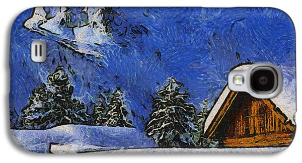 Frame House Galaxy S4 Cases - Snow Covered Galaxy S4 Case by Anthony Caruso