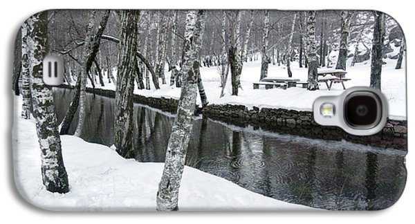 White River Scene Galaxy S4 Cases - Snowy Park Galaxy S4 Case by Carlos Caetano