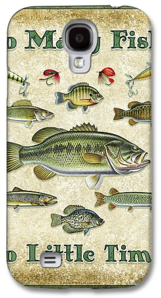 Signed Paintings Galaxy S4 Cases - So Many Fish Sign Galaxy S4 Case by JQ Licensing