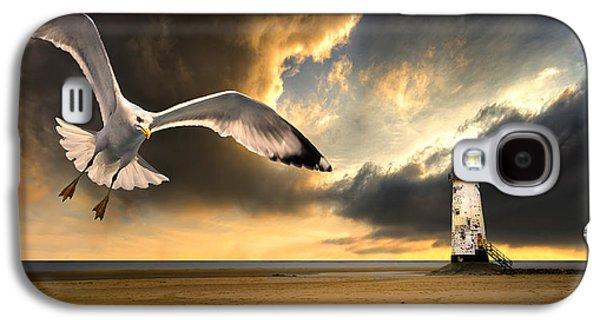 Seabirds Galaxy S4 Cases - Soaring Inshore Galaxy S4 Case by Meirion Matthias