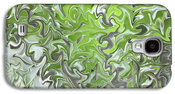 Abstract Nature Galaxy S4 Cases - Soft Green and Gray Abstract Galaxy S4 Case by Carol Groenen