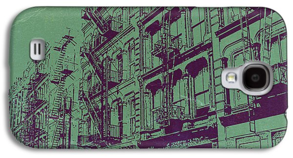 European City Digital Art Galaxy S4 Cases - Soho New York Galaxy S4 Case by Naxart Studio