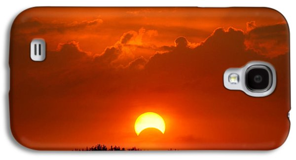 Solar Eclipse Galaxy S4 Cases - Solar Eclipse Galaxy S4 Case by Bill Pevlor