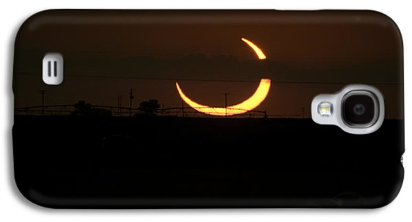 Solar Eclipse Galaxy S4 Cases - Solar Eclipse in Lubbock Texas Galaxy S4 Case by Melany Sarafis