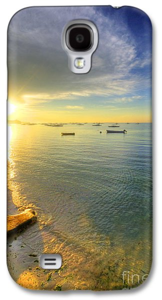Island Stays Galaxy S4 Cases - Some Days Stay Gold Forever Galaxy S4 Case by Yhun Suarez