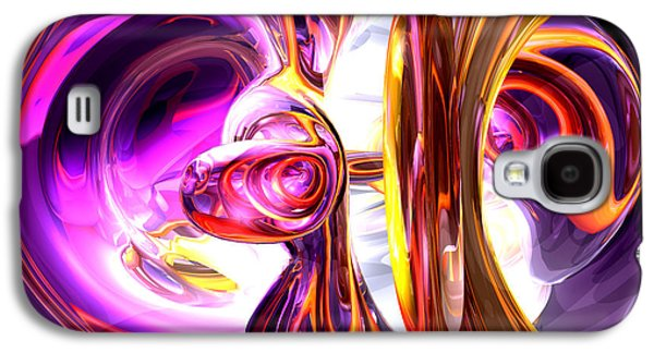 Digital Art Greeting Cards Galaxy S4 Cases - Soundwave Abstract Galaxy S4 Case by Alexander Butler