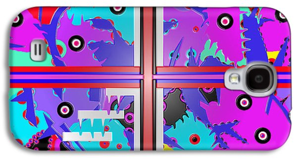 Abstract Digital Drawings Galaxy S4 Cases - South beach Miami  Galaxy S4 Case by Robert Margetts