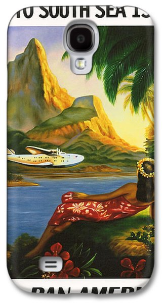 Vacation Digital Art Galaxy S4 Cases - South Sea Isles Galaxy S4 Case by Nomad Art And  Design