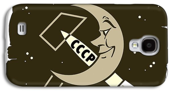 Man In The Moon Galaxy S4 Cases - Soviet Moon Exploration, Artwork Galaxy S4 Case by Detlev Van Ravenswaay