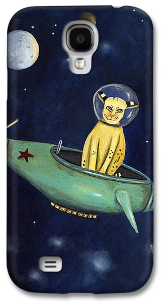 Bobcats Galaxy S4 Cases - Space Bob Galaxy S4 Case by Leah Saulnier The Painting Maniac