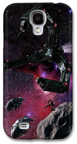 Intergalactic Space Galaxy S4 Cases - Space Scene Inspired By The Novels Galaxy S4 Case by Rhys Taylor