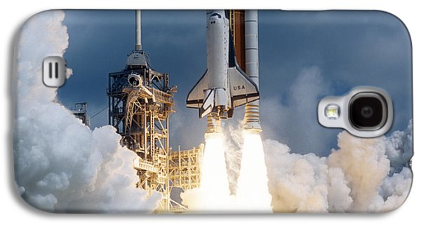 Color Image Galaxy S4 Cases - Space Shuttle Launching Galaxy S4 Case by Stocktrek Images