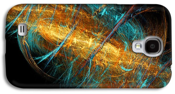 Abstract Digital Mixed Media Galaxy S4 Cases - Space Storm Galaxy S4 Case by Andee Design