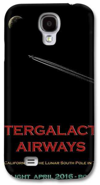 Intergalactic Space Galaxy S4 Cases - Space Travel Poster Galaxy S4 Case by Andrew Fare