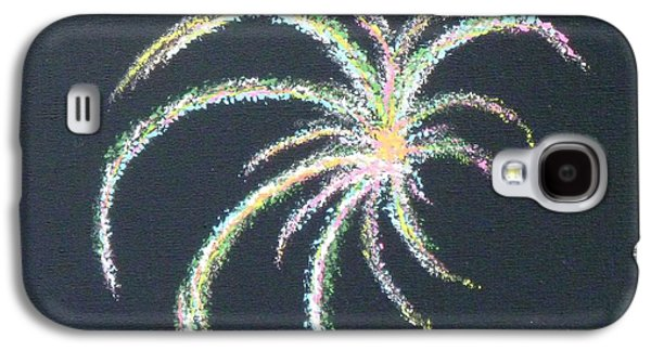 4th July Paintings Galaxy S4 Cases - Sparkler Galaxy S4 Case by Alys Caviness-Gober