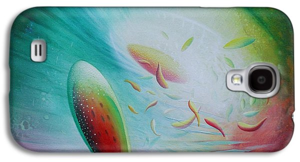 Macrocosm Paintings Galaxy S4 Cases - SPHERE Bf3 Galaxy S4 Case by Drazen Pavlovic