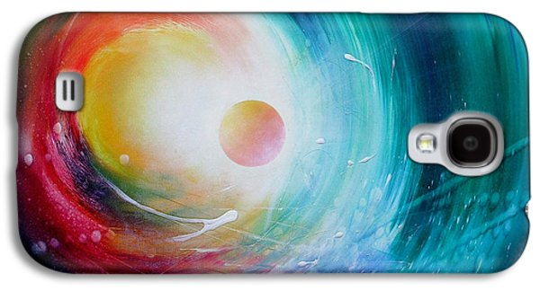 Macrocosm Paintings Galaxy S4 Cases - Sphere F31 Galaxy S4 Case by Drazen Pavlovic