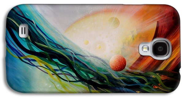 Macrocosm Paintings Galaxy S4 Cases - Sphere Gl2 Galaxy S4 Case by Drazen Pavlovic