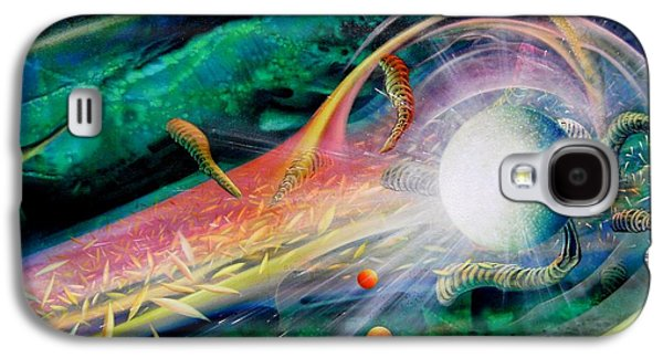 Macrocosm Paintings Galaxy S4 Cases - Sphere Metaphysics Galaxy S4 Case by Drazen Pavlovic