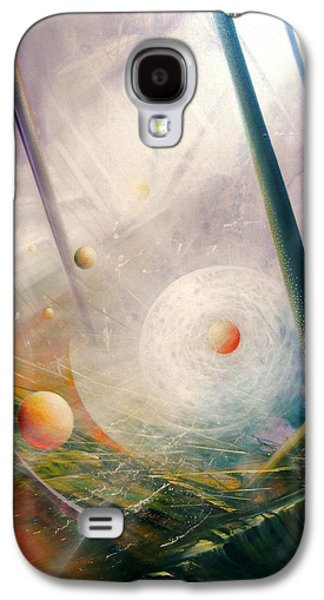 Macrocosm Paintings Galaxy S4 Cases - SPHERE new lights Galaxy S4 Case by Drazen Pavlovic