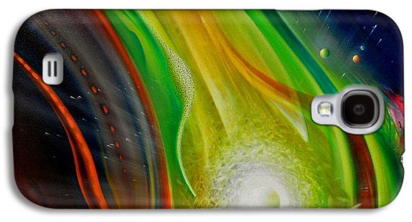 Macrocosm Paintings Galaxy S4 Cases - SPHERE Qf72XL                 Galaxy S4 Case by Drazen Pavlovic