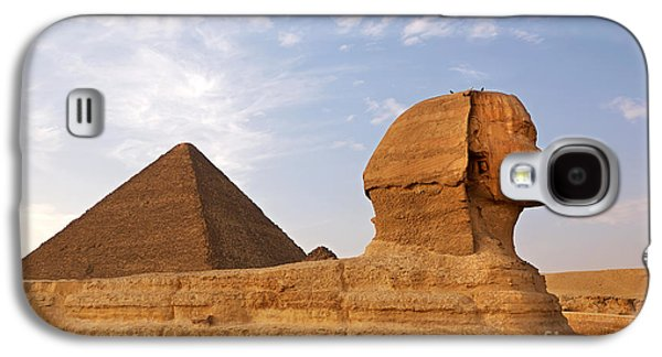 Pharaoh Galaxy S4 Cases - Sphinx of Giza Galaxy S4 Case by Jane Rix