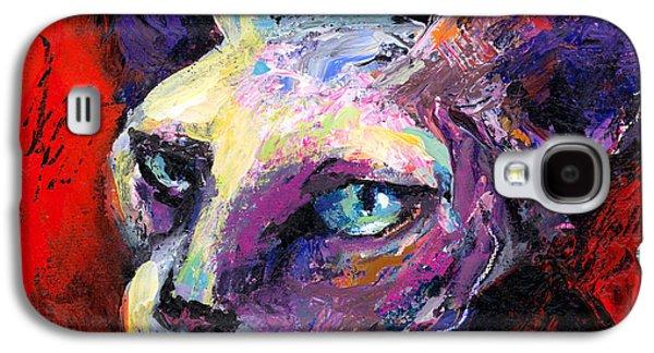 Original Drawings Galaxy S4 Cases - Sphynx sphinx cat painting  Galaxy S4 Case by Svetlana Novikova