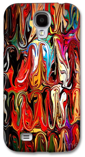 Abstract Digital Mixed Media Galaxy S4 Cases - Spirit of Mardi Gras Galaxy S4 Case by Carol Groenen