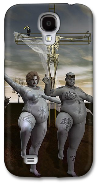 Macabre Digital Galaxy S4 Cases - Spiritual Exercises Galaxy S4 Case by Joaquin Abella