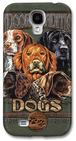 Breeds Galaxy S4 Cases - Sporting Dog Traditions Galaxy S4 Case by JQ Licensing