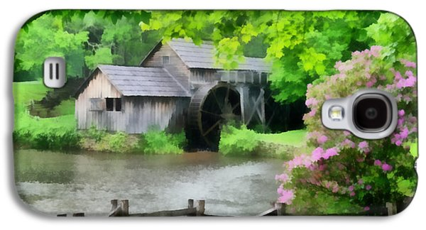 Grist Mill Paintings Galaxy S4 Cases - Spring at Mabry Mill Galaxy S4 Case by Lynne Jenkins