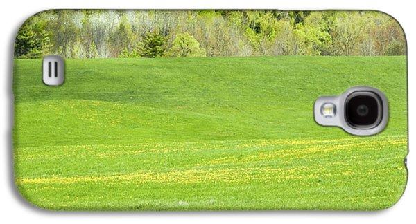 Hay Galaxy S4 Cases - Spring Farm Landscape in Maine Galaxy S4 Case by Keith Webber Jr
