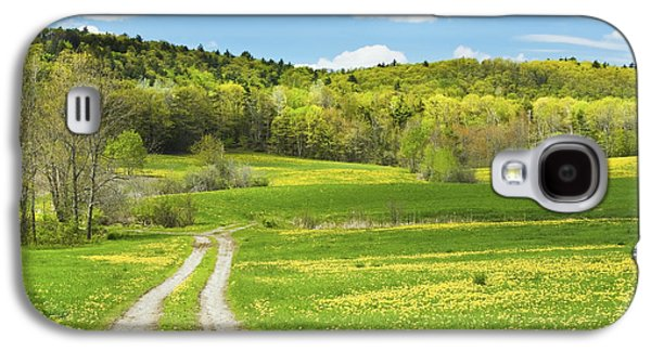 Maine Meadow Galaxy S4 Cases - Spring Farm Landscape With Dirt Road in Maine Galaxy S4 Case by Keith Webber Jr