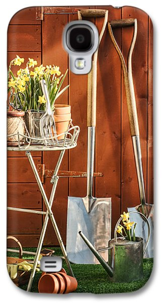 Shed Galaxy S4 Cases - Spring Gardening Galaxy S4 Case by Amanda And Christopher Elwell